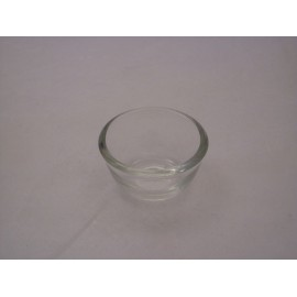 Glass bowl for eyelash dye