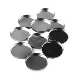20 empty pans for depotting