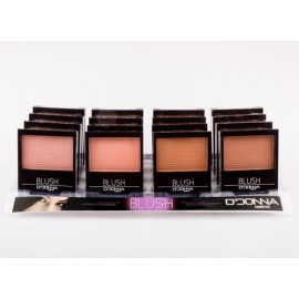 Blusher Display, Natural shades, 4x4, D'donna serie B
