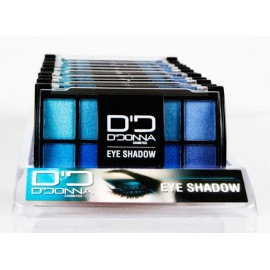 Eyeshadow Display, Blue, Sky, 12 pieces, D'donna