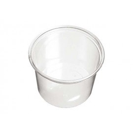 Transparant plastic cups, 6 pieces